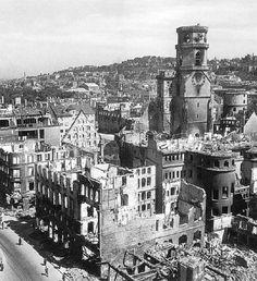 Trümmer um die Stiftskirche - von Zeit zu Zeit - Stuttgarter Zeitung