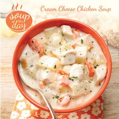 Cream Cheese Chicken Soup Recipe from Taste of Home -- shared by Kathleen Rappleye, Mesa, Arizona