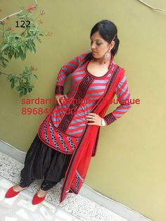fav girly style punjabi suit by samrina randhawa