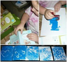 print making fun for the holidays with Kiwi Crate - a review by A Hen's Nest