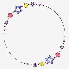 Boarder Designs, Page Borders Design, Round Border, Star Clipart, Drawing Stars, Art Drawings For Kids, Instagram Frame, Frame Template, Borders And Frames