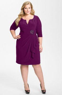 Foto 6 de 49 Sencillo pero impecable diseño con falda drapeada en color malva. Modelo de Adrianna Papell. | HISPABODAS