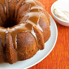 Salted Caramel Apple Pound Cake from Evil Shenanigans...