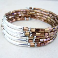 Memory Wire Bracelet Ideas & Collections