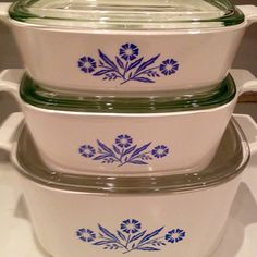 Mama's vintage Corningware and now mine. I know she is with us every family meal.