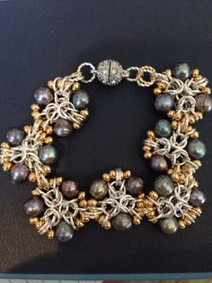 Tripoli bracelet to match necklace & earring set... Called shades of grey.. Donation to ACS