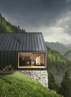 Love the continuous wall/roof