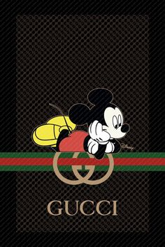 Gucci Logo Poster Gucci Home Decor Gucci Wall Art Mickey Mouse Wallpaper, Disney Phone Wallpaper, Pink Wallpaper Iphone, Butterfly Wallpaper, Cool Wallpaper, Mickey Vintage, Simpsons Drawings, Disney Minimalist, Mickey Mouse Pictures