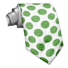 glitter polka dots pattern tie - choose your background color