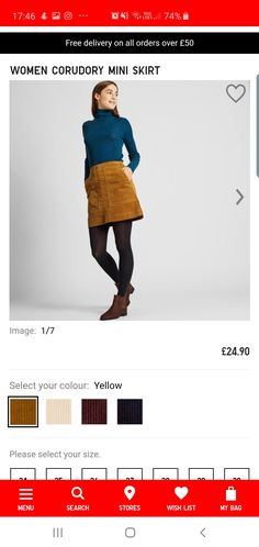 Skirt Images, My Bags, The Selection, Mini Skirts, Autumn, Yellow, Color, Women, Fall Season