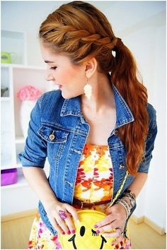 14 Pretty and Chic Ponytail Hairstyles With Tutorials Every woman creates their hair look depending your own personalities and preference. So you hair can always make a statement for you in any occasion. 2015 Hairstyles, Elegant Hairstyles, Hairstyles For School, Pretty Hairstyles, Girl Hairstyles, Hairstyle Ideas, Amazing Hairstyles, Updo Hairstyle, Wedding Hairstyles