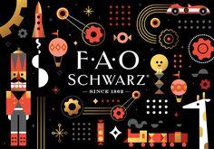 Novidade: Novo logotipo e identidade para FAO Schwarz by Mattson Creative