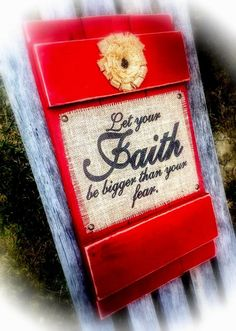 Let Your Faith Be Bigger Than Your Fear  Burlap by DesignsBySyds