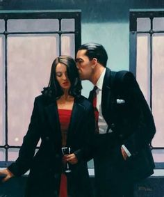 """""""Contemplation of Betrayal"""" by Jack Vettriano. First shown in 2001 as part of The International Art and Design Fair held in New York."""
