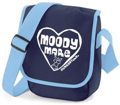 Funky Filly Moody Mare Horse Heart Cross Body Shoulder Bag Navy Blue