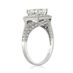 3.05ct Princess Cut Diamond Engagement Anniversary by MarkBroumand