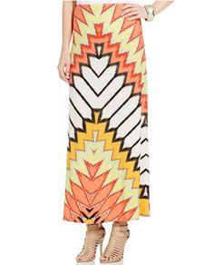 ECI Sunburst-Print A-Line Maxi Skirt  Price : 60.00$