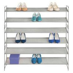 Lynk Vela Stackable Shoe Shelves 2 Tier - Shoe Rack Shelf - Platinum : Target