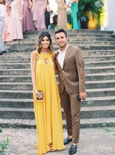 Yellow maxi dress: http://www.stylemepretty.com/2016/04/21/bright-beachy-celebration-in-brazil-part-1-the-wedding/ | Photography: Cassidy Carson - http://www.cassidycarsonphotography.com/#cassidy-carson-photography: