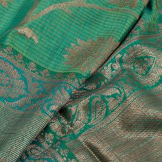 Handwoven Banarasi Katrua Dupion Silk Saree With Jangla Design 10020996 Kanakavalli Sarees, Nalli Silk Sarees, Nalli Silks, Dupion Silk Saree, Banaras Sarees, Indian Sarees, Saris, Pattu Saree Blouse Designs, Modern Saree