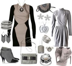 """""""gray is not dull if you liven it up"""" by carolwatergirl on Polyvore"""