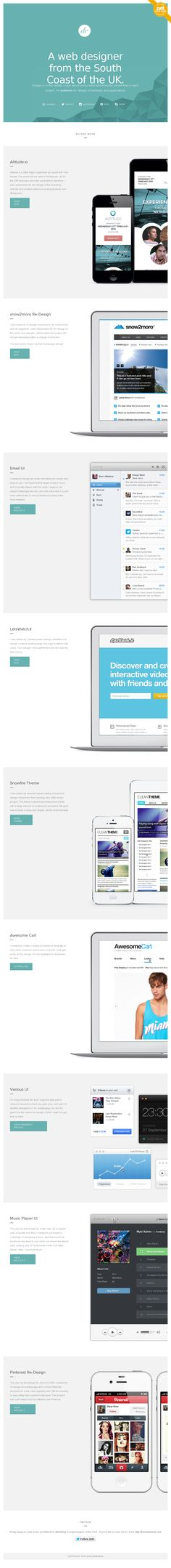 Website http://danedwards.me/ - Super clean with Super pictures