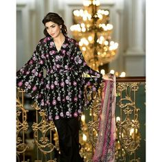 ff3048077d Buy Gul Ahmed Black Spring/Summer 2017 Collection Swiss Silk Embroidered-AS  # 06 Rs. for order : call & watsapp @ 03363893969