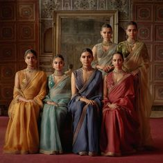 2019 Sabyasachi Charbagh Bridal Lehenga collection has a bunch of traditional red wedding lehengas, some gorgeous destination wedding outfits + lots more. Indian Wedding Outfits, Indian Outfits, Indian Weddings, Sabyasachi Sarees, Indian Sarees, Bollywood Saree, Bollywood Fashion, Bridal Lehenga Collection, Sabyasachi Collection