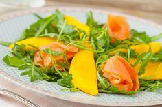 Rocket Salmon and Mango Salad Davina Mccall, Mango Salad, Bikini Bodies, Beachbody, Salmon, Diet, Bikinis, Recipes, Food