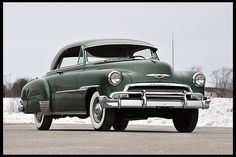 1951 Chevrolet Deluxe Hardtop 235 CI, Automatic.    I used to drive one of these thanks to Chuck Dultmeier same color and everything.