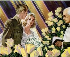 WWII era ad for Community Silverplate featuring a soldier and his bride, ca. Vintage Advertisements, Vintage Ads, Vintage Prints, Vintage Posters, Vintage Soul, Vintage Images, Remembrance Day, Military Photos, Poster Ads