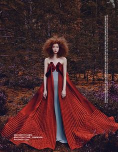 """""""Red Forest"""" Vogue Taiwan November 2014"""