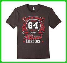 Mens Funny Gift For 64 Years old - Born 1953 Meaning Birthday Medium Asphalt - Birthday shirts (*Amazon Partner-Link)