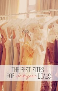 The BEST sites for scoring high-end designer deals! Thanks to this post, I got a bag from my favorite designer for crazy cheap! If you haven't checked out the online retailers mentioned here, you seriously need to! Pin now, shop later!!