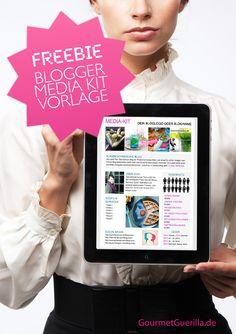 Die kostenlose Vorlage für dein eigenes Blogger Media Kit zum Download. In PowerPoint einfach und schnell anpassbar mit deinen eigenen Zahlen und Fotos. | GourmetGuerilla.de #BlogThinkTank