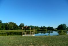 2.5-acre pond on the south side of the Wedding Barn at the Civil War Ranch in Carthage, MO. Photo by Lee Hunt