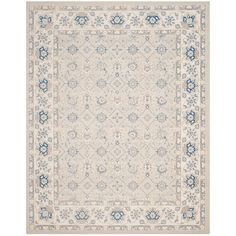 Safavieh Patina X Rectangle Synthetic Power Loomed Traditional A Light Blue / Ivory Home Decor Rugs Area Rugs Lohals, Cozy Family Rooms, Textiles, Traditional Rugs, Rug Cleaning, Weaving Techniques, Blue Ivory, Beige Area Rugs, Oriental Rug