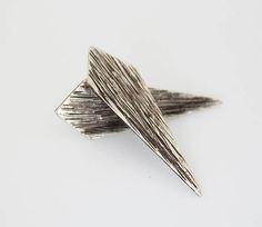 Long Geometric sterling silver earrings handmade