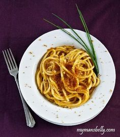 Sea Urchin Pasta with Bottarga