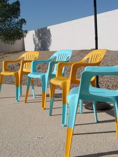 Painting Plastic Chairs quick & easy garden-furniture makeovers | silver spray paint and