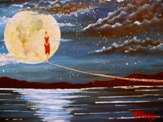 """""""Acrylic on Canvas"""" Code: My moon My YouTube Channel:  https://www.youtube.com/user/KoutrasArt"""