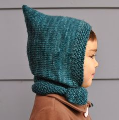 amirisu: Free Pattern from amirisu - Pixie Scarf Hat // hmmm dad's viking idea Love Knitting, Knitting For Kids, Knitting Patterns Free, Knit Patterns, Baby Knitting, Free Pattern, Baby Hat Patterns, Diy Tricot Crochet, Bonnet Crochet