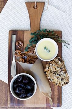 Chicken Liver Pâté with Red Wine-Poached Figs and Caramelized Spicy Walnuts