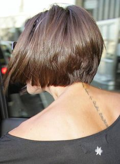 bob hairstyle back view | Back View Of Victoria Beckham Bob Hairstyle