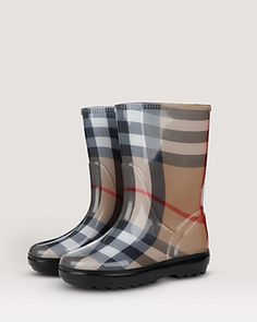 "Burberry Girls' ""Frogrise"" Rain Boots"