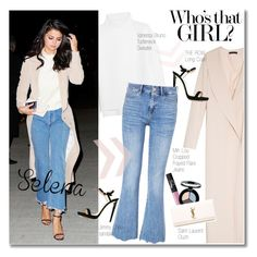 """""""Selena Gomez"""" by junglover ❤ liked on Polyvore featuring The Row, Vanessa Bruno, NARS Cosmetics, Jimmy Choo, Smashbox, M.i.h Jeans and Yves Saint Laurent"""