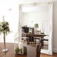 Elaborate White Mirror - mirrors