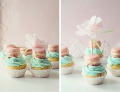 Icing Designs: Mini French Macaron Cupcake Toppers