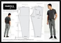 Mens lounge pants pattern in spanish Mens Sewing Patterns, Sewing Men, Sewing Pants, Clothing Patterns, Fashion Sewing, Mens Fashion, Sewing For Dummies, Underwear Pattern, Men Trousers