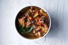 Bone Broth: You're Doing It Wrong (Well, if You Make These Common Mistakes) - Bon Appétit Bone broth is everywhere these days. Learn how to make it at home by avoiding the most common mistakes. Beef Stock Recipes, Soup Recipes, Cooking Recipes, Healthy Recipes, Radish Recipes, Gnocchi Recipes, Recipies, Clean Eating, Healthy Eating
